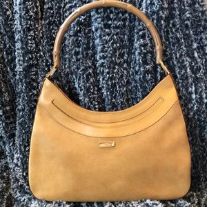 Handbags - Authentic GUCCI Suede Bamboo Bag